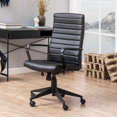 Chaise de bureau Chivano similicuir - noir