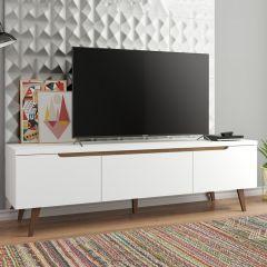 Meuble tv Infas 180cm à 2 portes & 1 tiroir - blanc