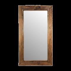Miroir mural Rustika 160x90cm - bois flotté/teck