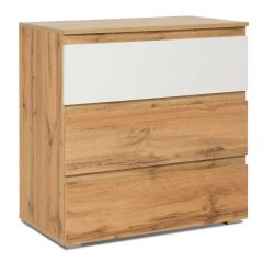 Chiffonnier Image 3 tiroirs - chêne/blanc