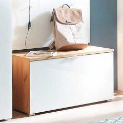 Armoire à chaussures Tille 89cm avec 1 porte - chêne/blanc