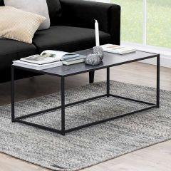 Table basse Dover 100x50 industriel - noir