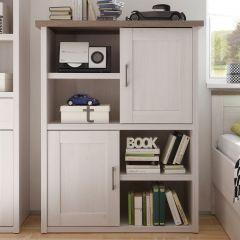 Armoire ouverte Larnaca 106 cm avec 2 portes - blanc