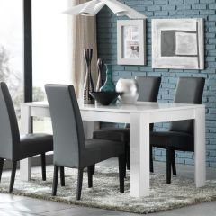 Table à manger Modena 160 cm - blanc