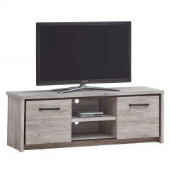Meuble TV Sela 160cm - chêne gris