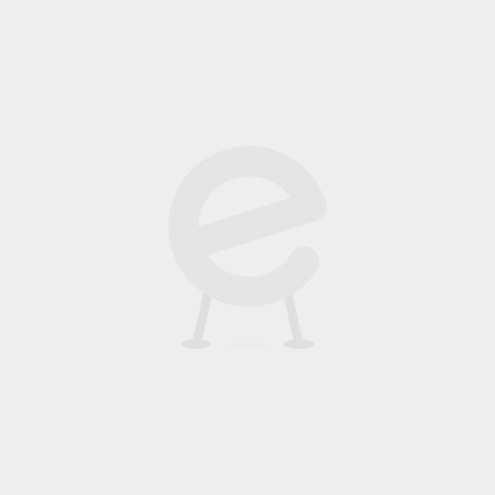 Lit mi-hauteur Astrid nature avec toboggan - tente fleurs