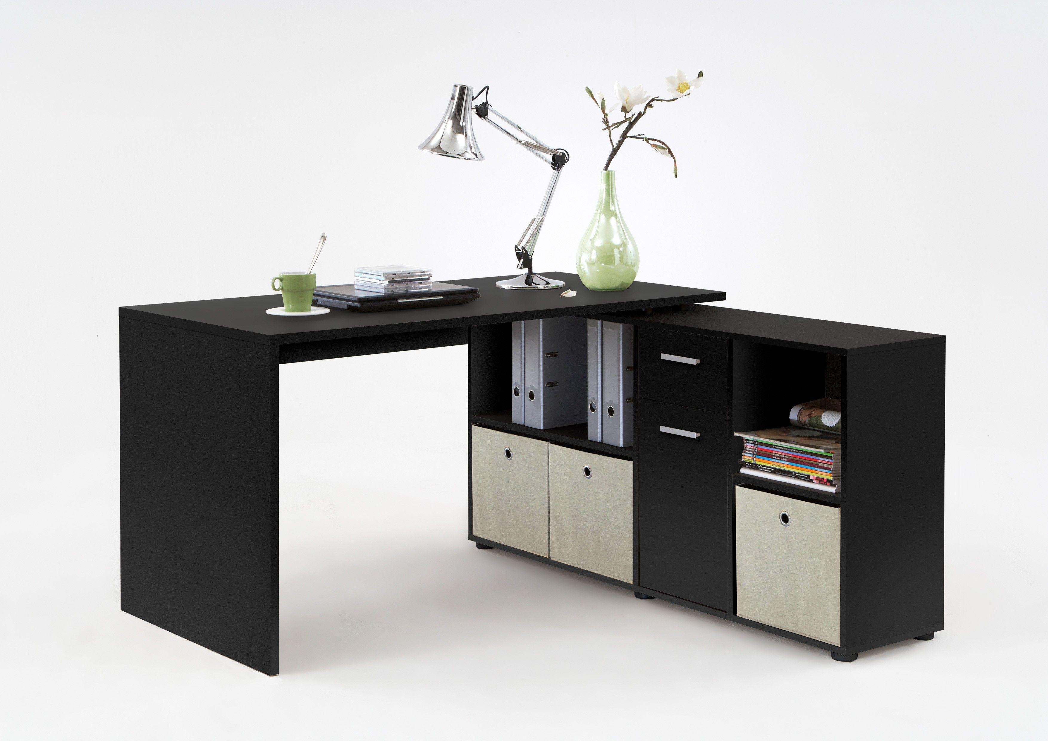 Table A Langer D Angle bureau d'angle lex - noir
