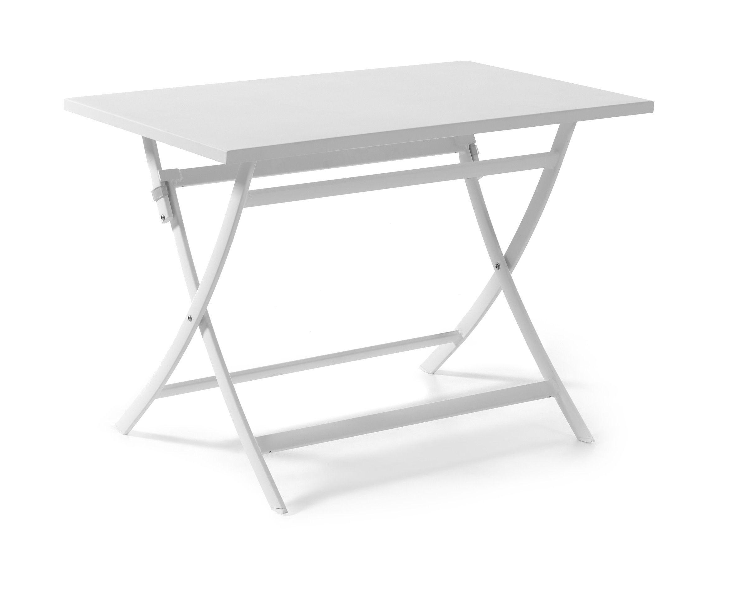 Table de jardin pliable Grasse - blanc