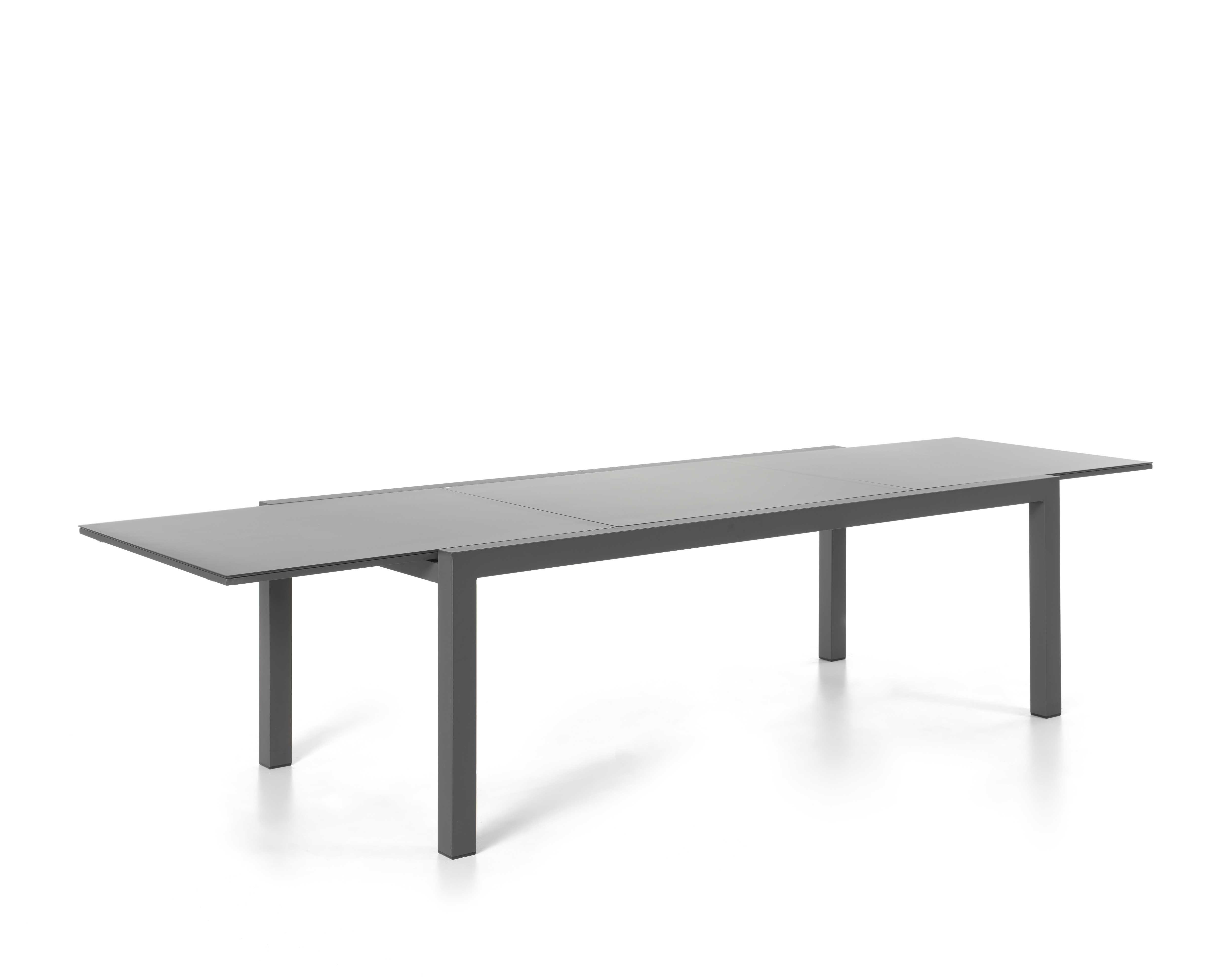 Table de jardin extensible Kingstown 220/330 - noir/gris foncé