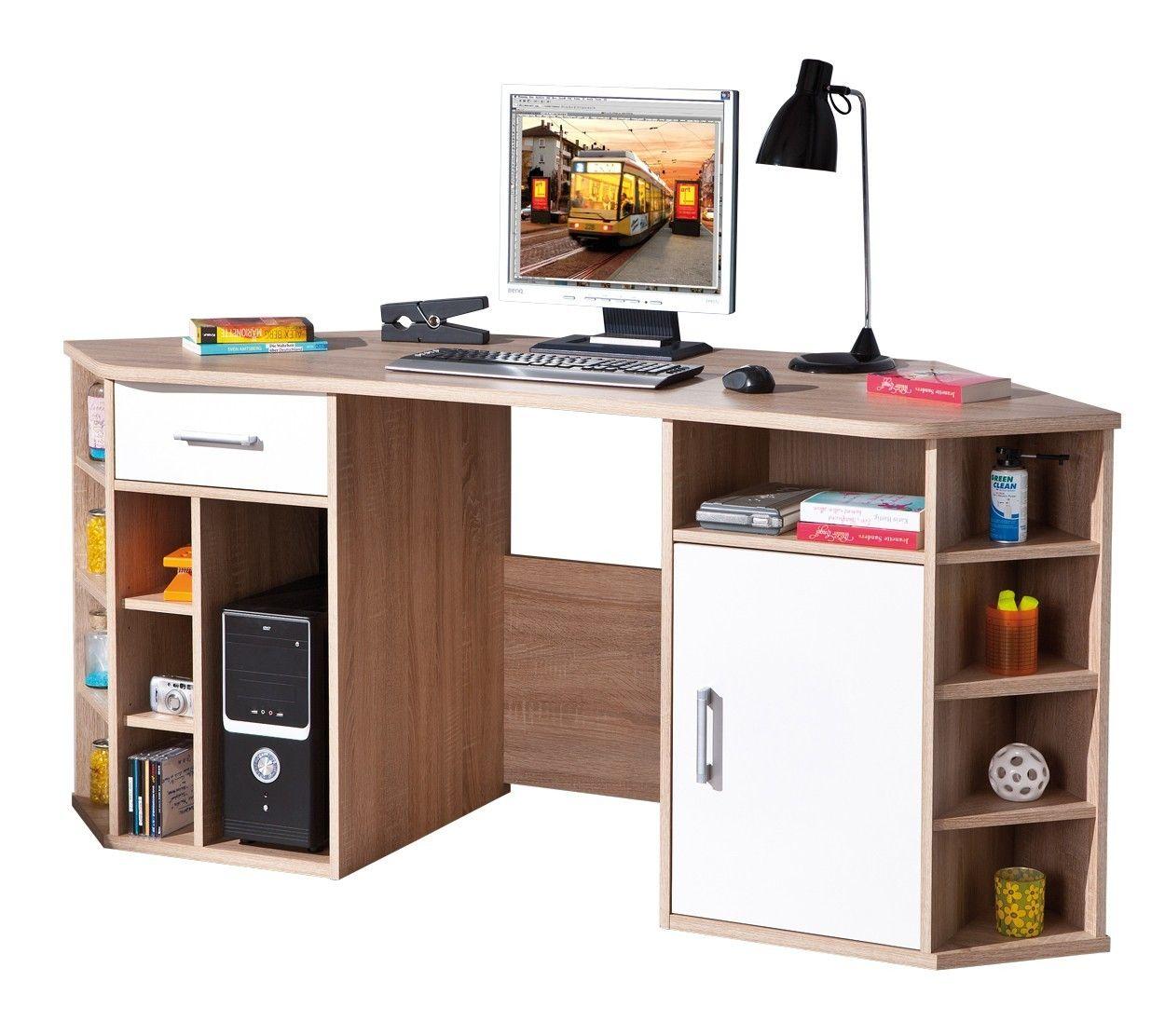 brun Bureau ordinateur Vasto Bureau pour L354RjAq