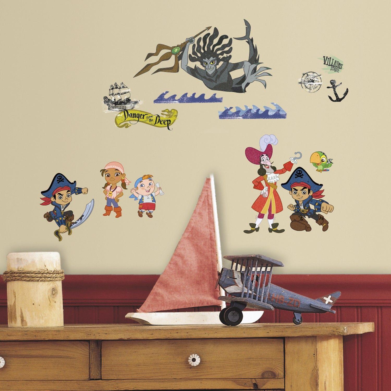 Vente de liquidation 2019 performance fiable Vente RoomMates stickers muraux - Jake et les Pirates du Pays imaginaire