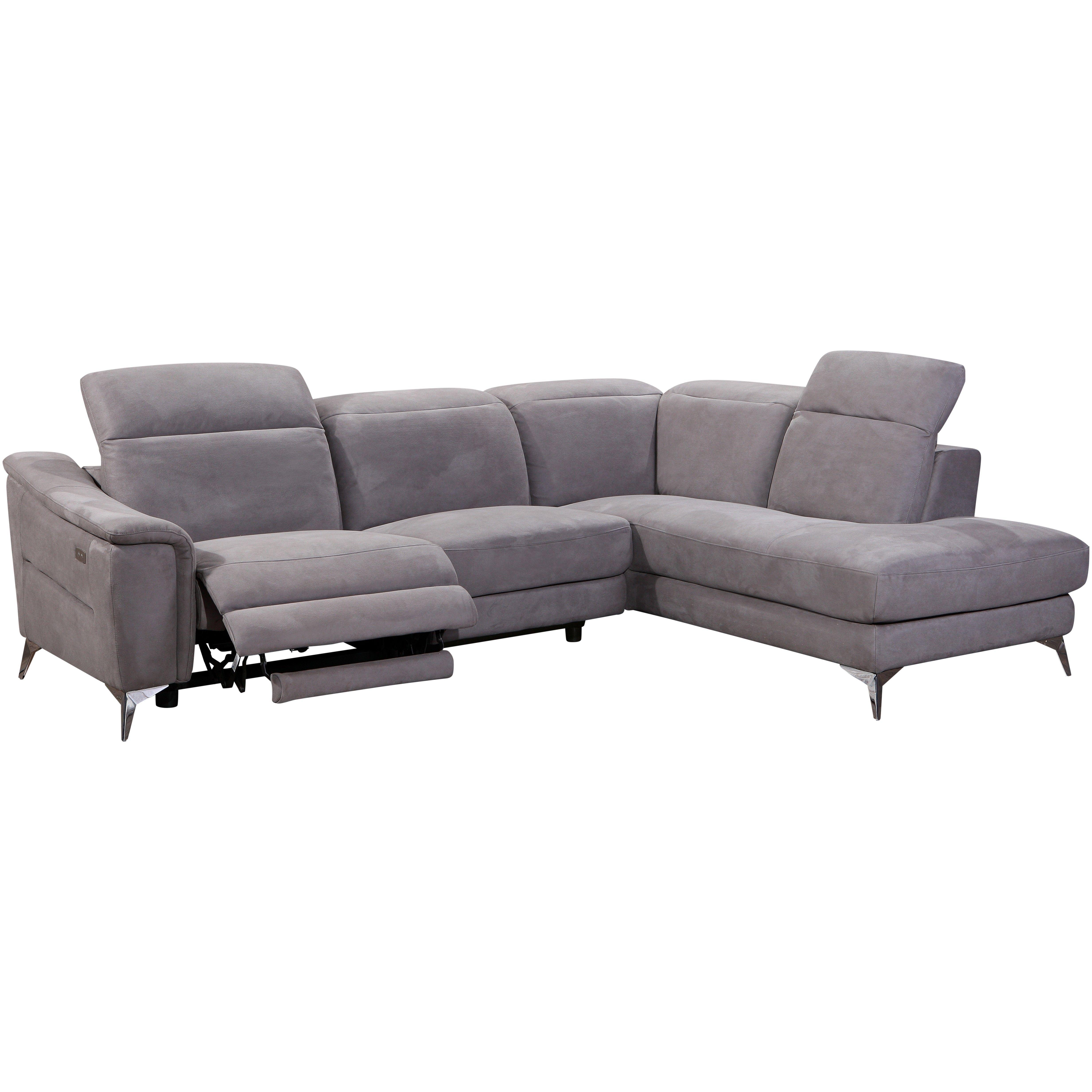 H Et H Canapé canapé d'angle novara avec fauteuil relax à gauche