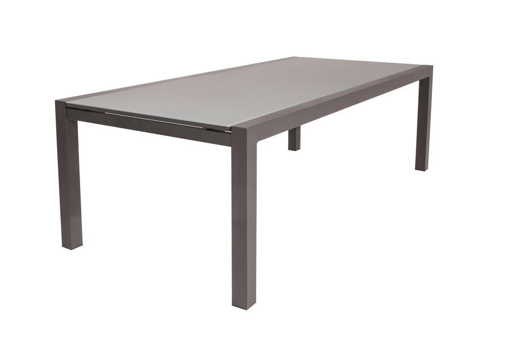 Table de jardin extensible Kingstown 220/330 - noir/gris clair