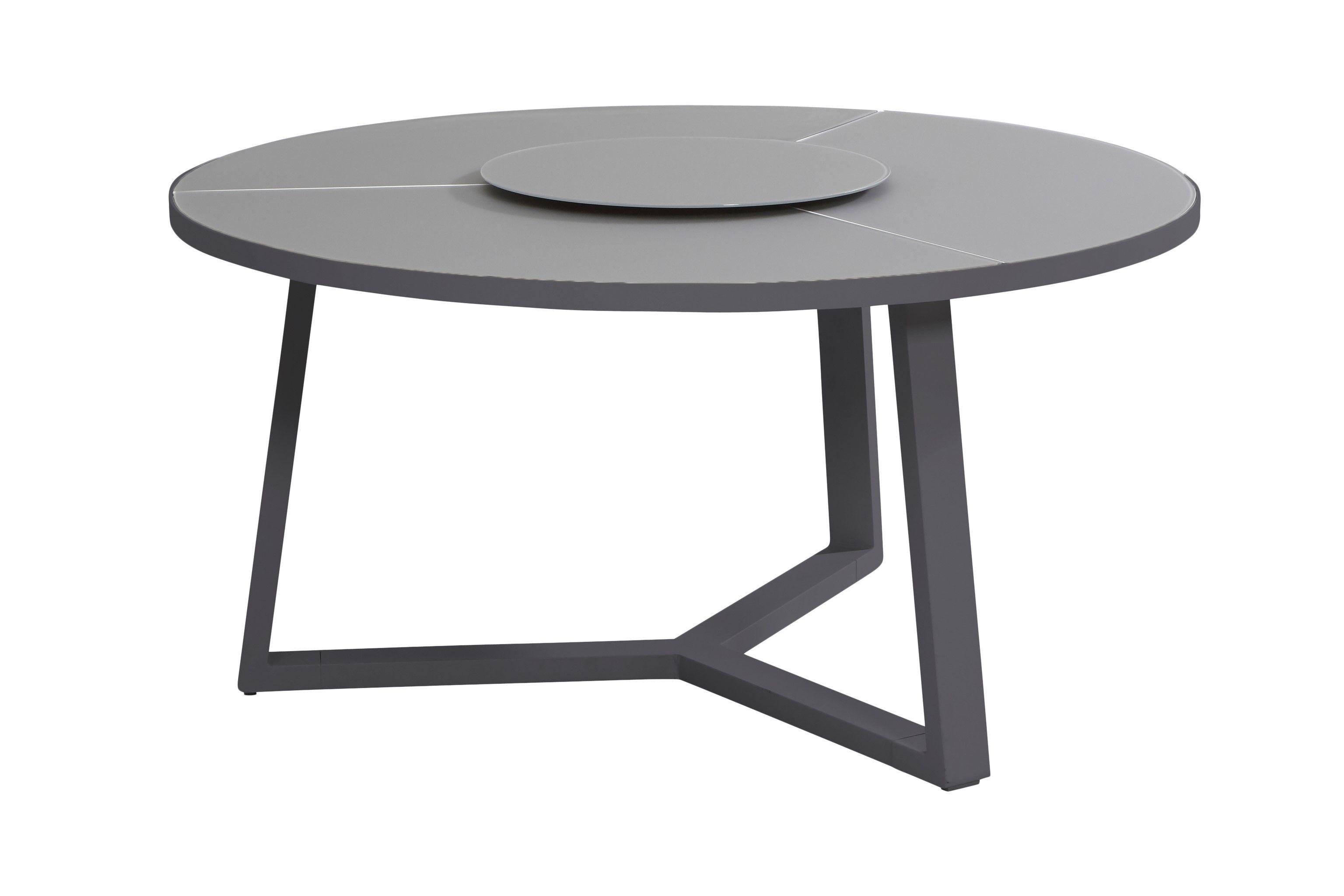 Table de jardin à plateau tournant Original - gris foncé