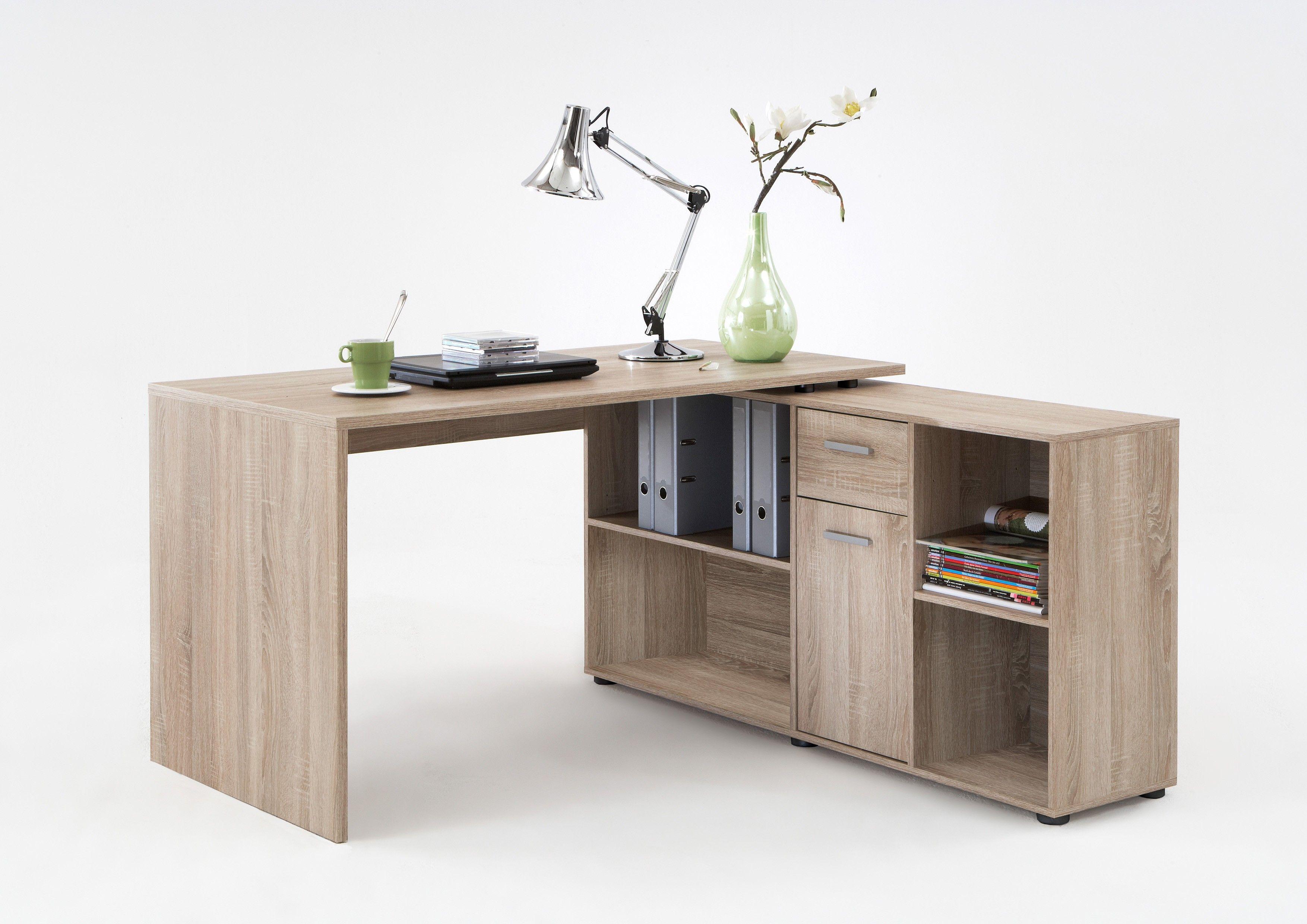 Commode A Langer Angle bureau d'angle lex - chêne brun