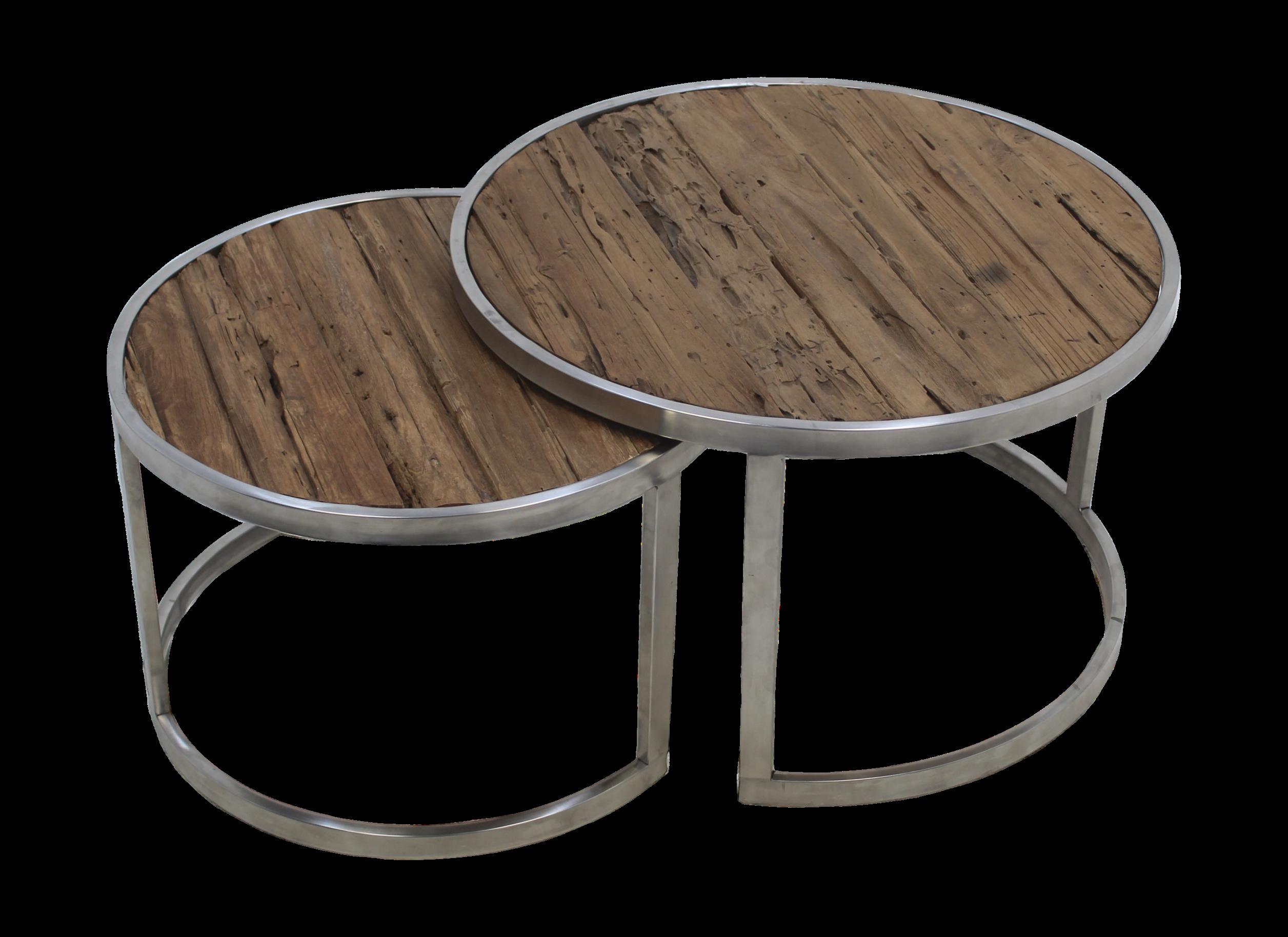 Meuble Sous Evier Ancien table basse - teck ancien - ensemble de 2
