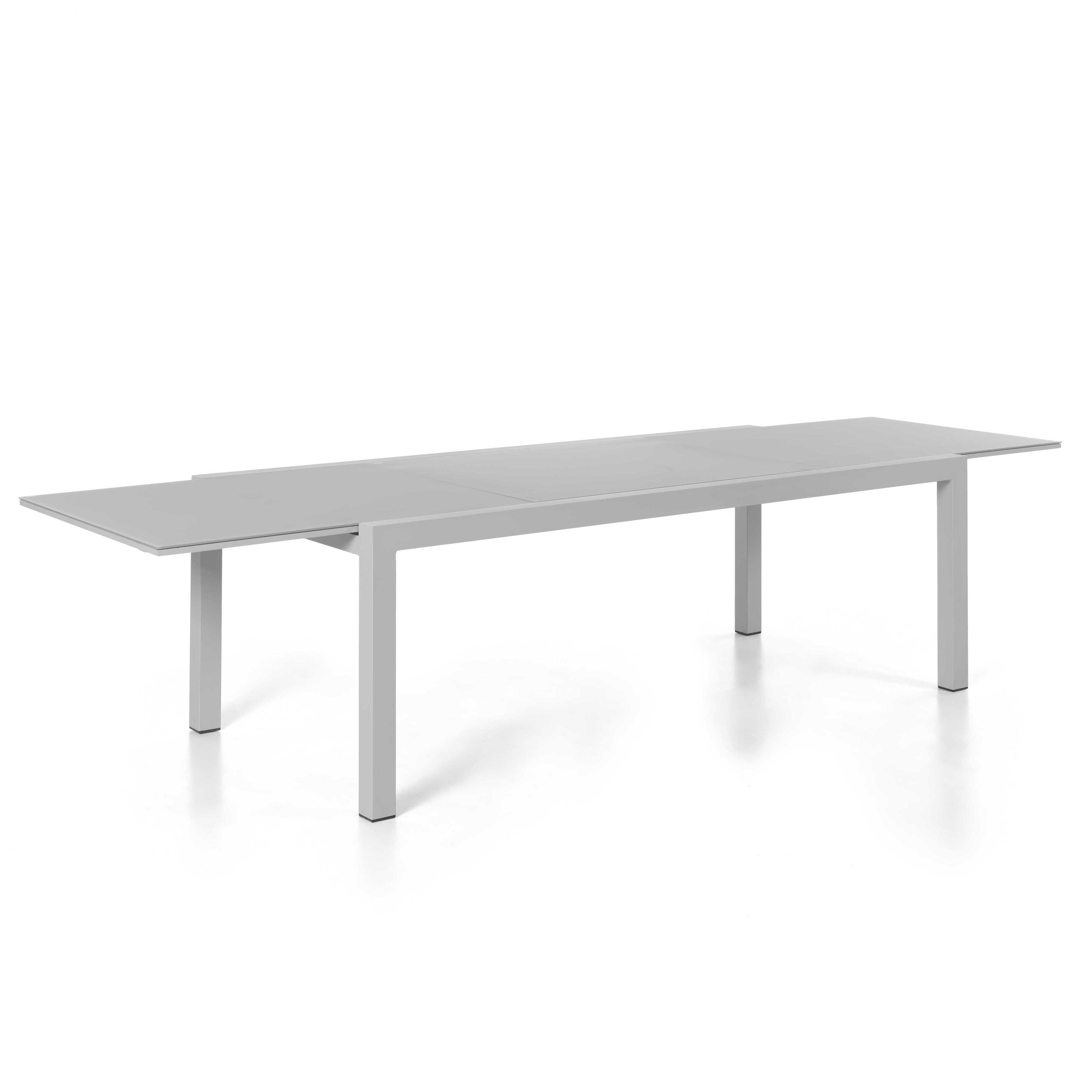 Table de jardin extensible Kingstown 220/330 - gris argenté