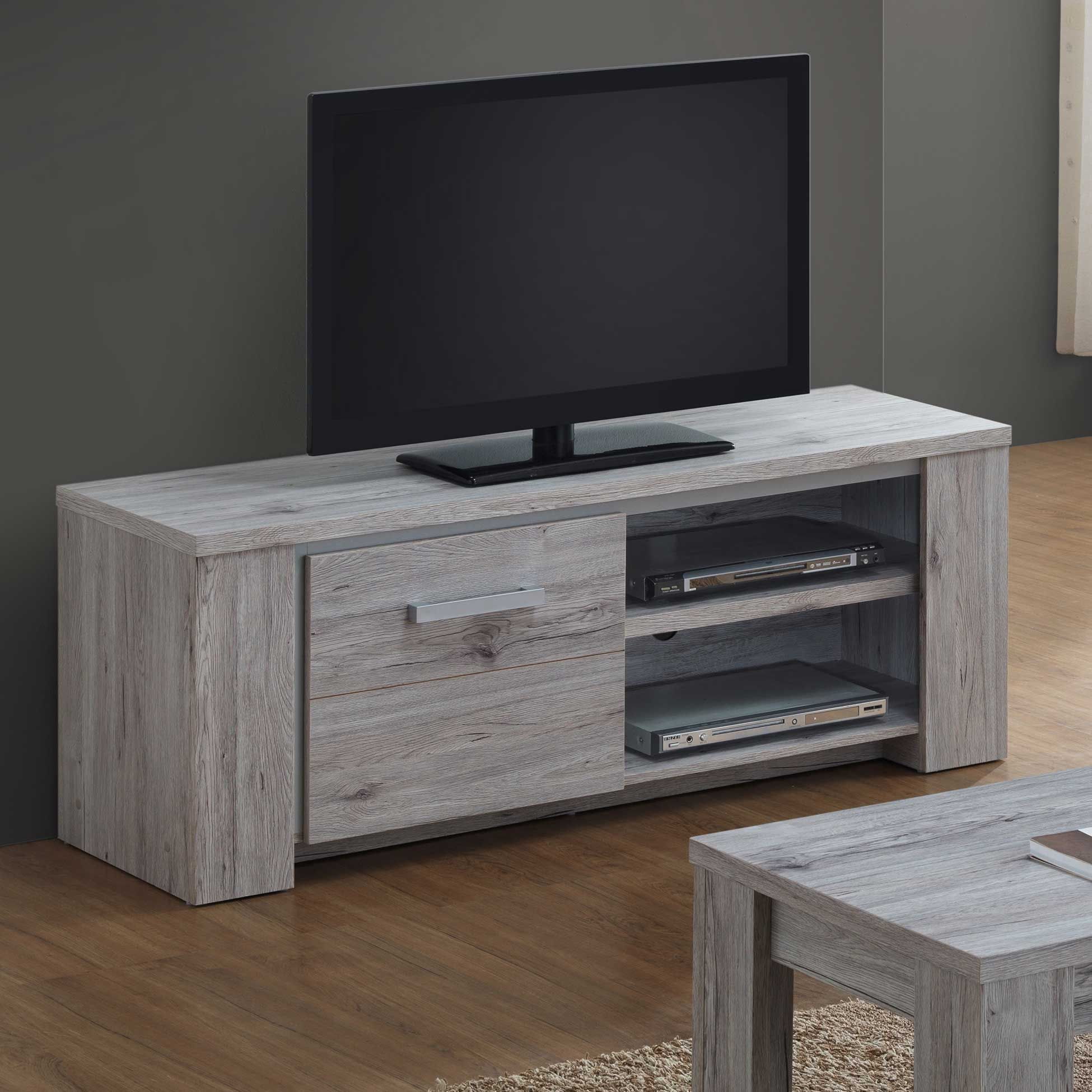 Meuble Tv Elite 145cm Gris Emob Emob
