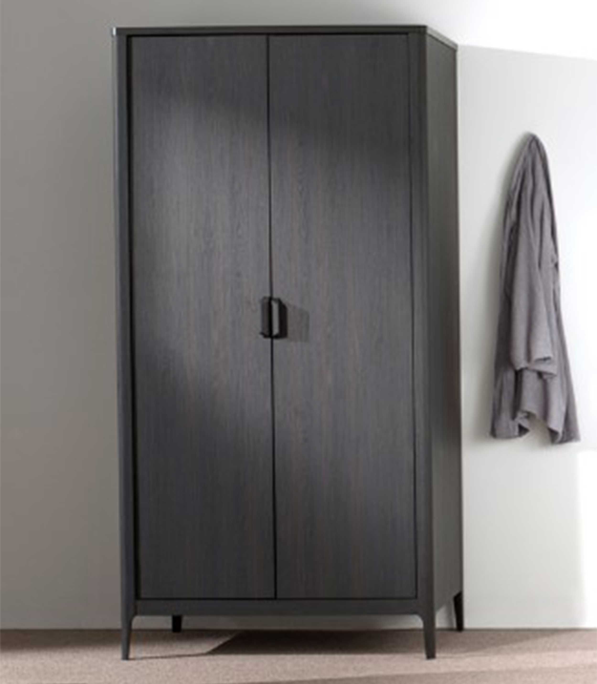 Armoire Azalea 100cm Avec 2 Portes Brun Noir Vipack Emob