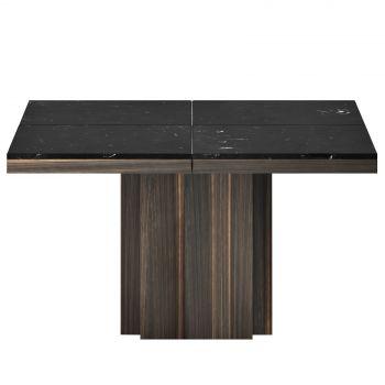 Table à manger Dusk 130x130 - marbre noir