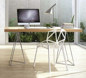 Table Multis 160cm - chêne/chrome
