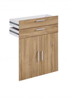 2 tiroirs et 2 portes Gabi - chêne vieilli