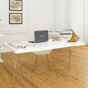 Table Multis 160cm - blanc/chrome