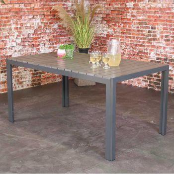Table de jardin Jersey 160x90 – gris