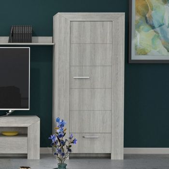 Vaisselier Lani 80cm à 1 porte & 1 tiroir - chêne gris