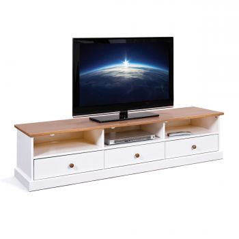 Meuble tv Westerland 180cm - blanc
