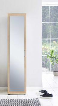 Armoire Hidde avec porte miroir - hêtre