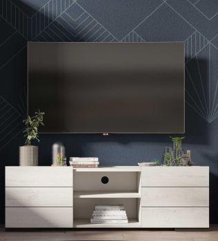 Meuble TV Elba 160cm - chêne blanchi