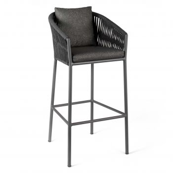 Chaise de bar pour extérieur Equator - gris foncé