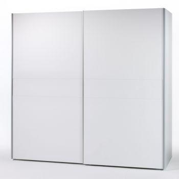 Armoire à vêtements Wouter 215cm avec 2 portes - blanc