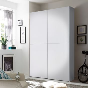 Armoire à vêtements Wouter 125cm avec 2 portes - blanc