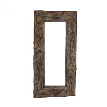 Miroir mural Root 200x100cm - teck/bois de racine