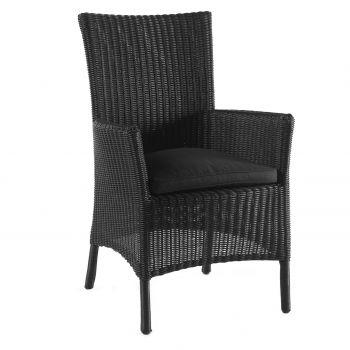 Chaise de jardin Fara - noir