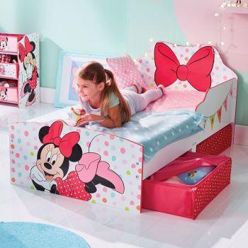 Lit junior à tiroirs Minnie Mouse