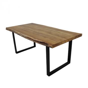 Table de repas SoHo 220x100cm cadre U - acacia/fer