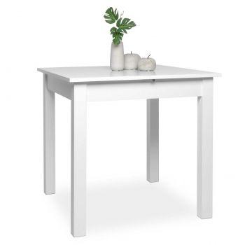 Table à manger extensible Coburg 80/120 - blanc