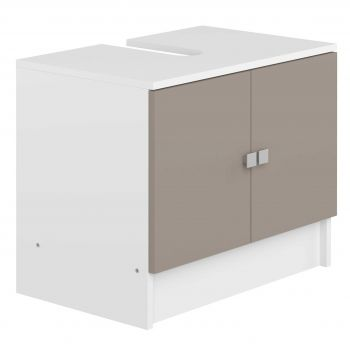 Meuble sous lavabo Variety - blanc/taupe