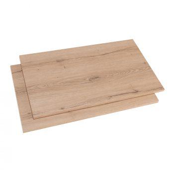 Option 2 tablettes pour armoire Birger 100 cm - chêne Helvézia