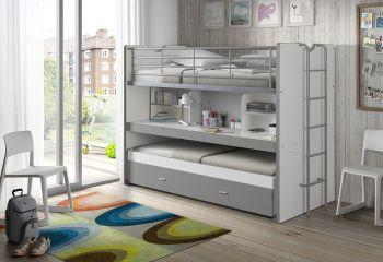 Lit mezzanine Bonny 80 - gris