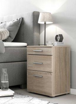 Table de chevet Bedside 2 tiroirs & 1 porte - chêne