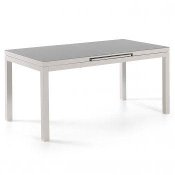 Table de jardin extensible Calvi 220/280 - blanc