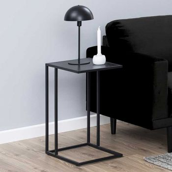 Table d'appoint Dover industriel - noir
