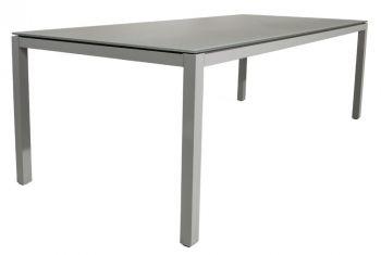 Table de jardin Bendigo 220x100 - gris argenté/gris clair