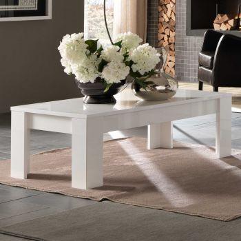 Table basse Modena 126x67 - blanc
