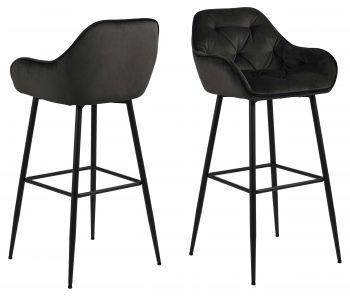 Lot de 2 chaises de bar Bridget - noir
