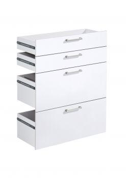4 tiroirs Gabi - blanc brillant
